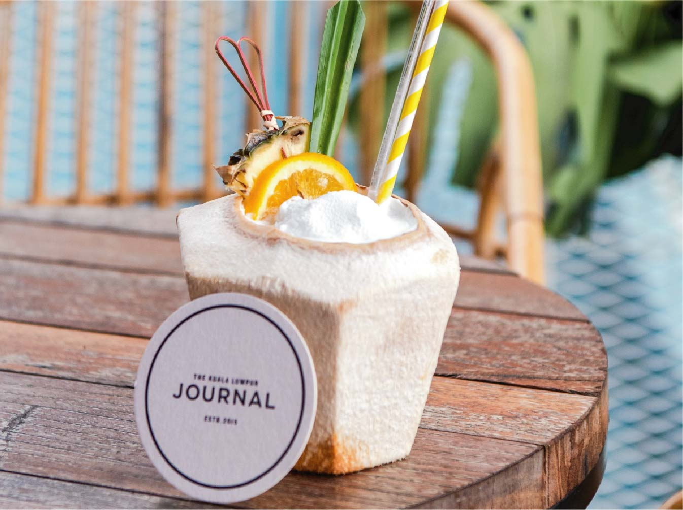 King coconut water with a twist at KL Journal Hotel