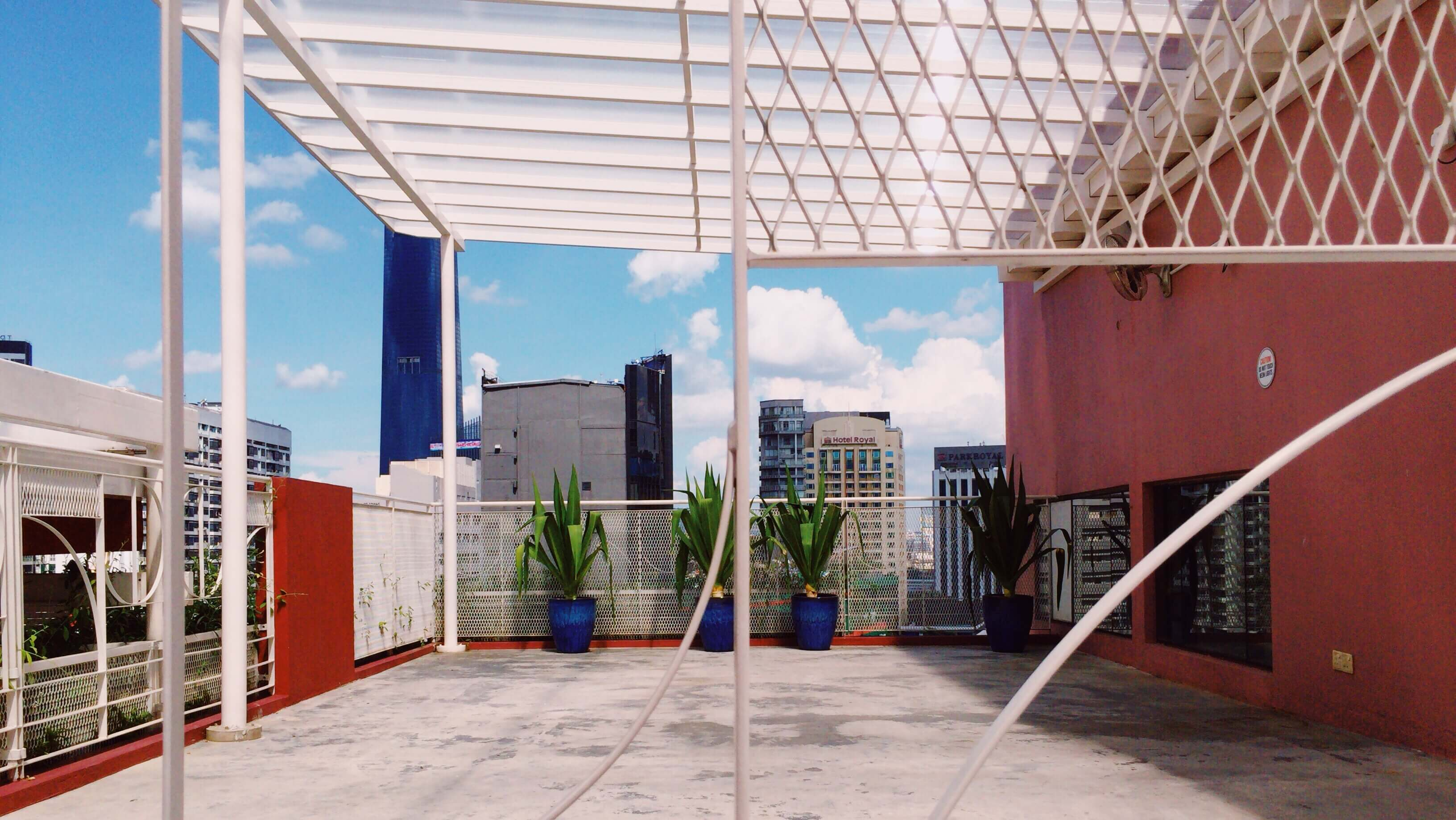 The Rooftop event space with Bukit Bintang city views