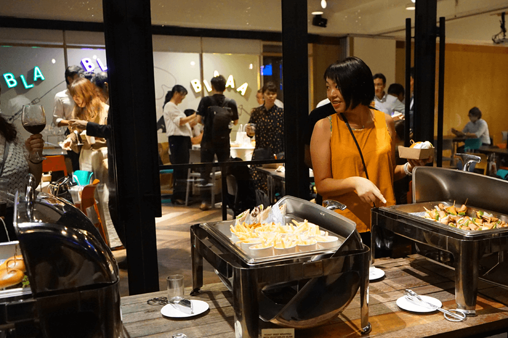 Guests enjoying the buffet at KL Journal Hotel