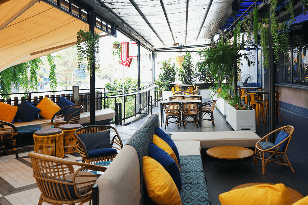Cosy Terrace event space at KL Journal Hotel