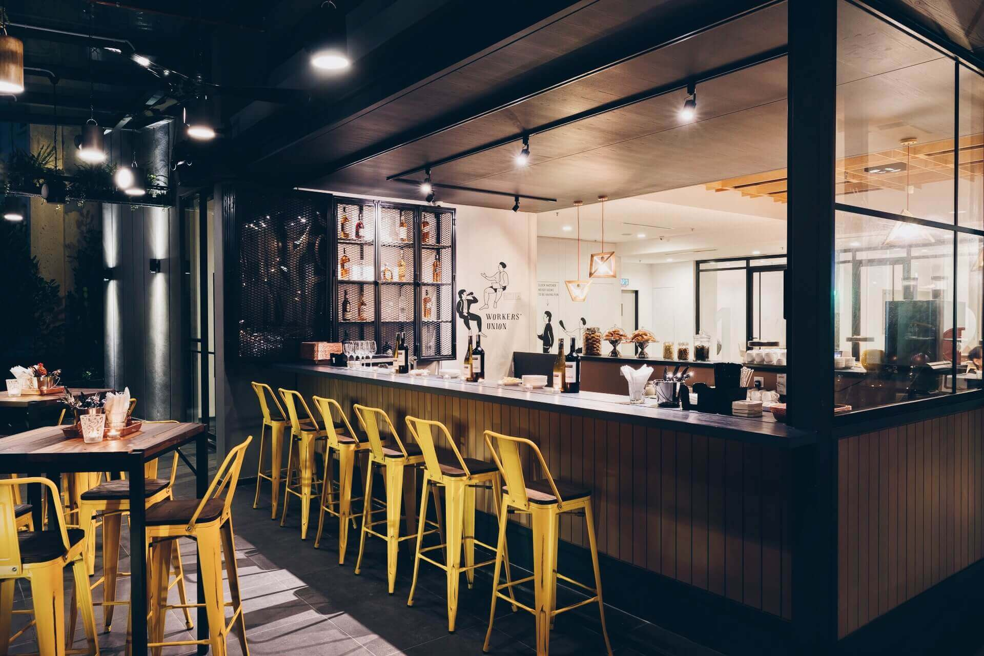 Chic and modern Terrace Bar at KL Journal Hotel