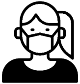 Cartoon image of a girl wearing a mask