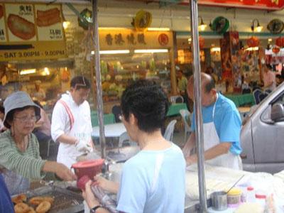 Yaw Char Kuey street food stall in Jalan Alor