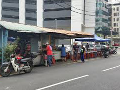Nasi Campur & Ikan Bakar food stall in Jalan Alor
