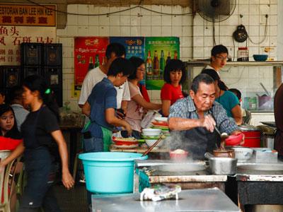 Wan Tan Mee street food stall in Jalan Alor